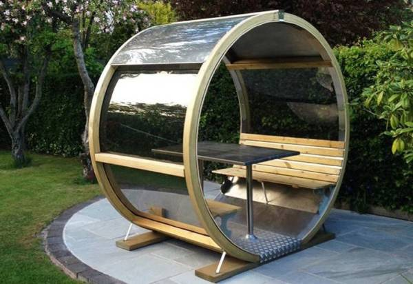 garden pods - photo garden pod with bench and tablen and without doors