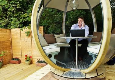 garden pod company - photo of a man working inside a garden pod